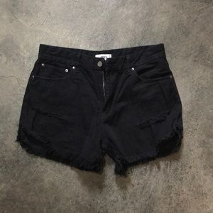 Pants - Distressed jean shorts